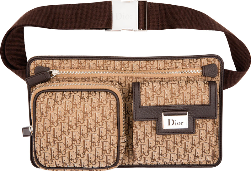 Christian Dior Beige Diorissimo Crossbody Belt Bag