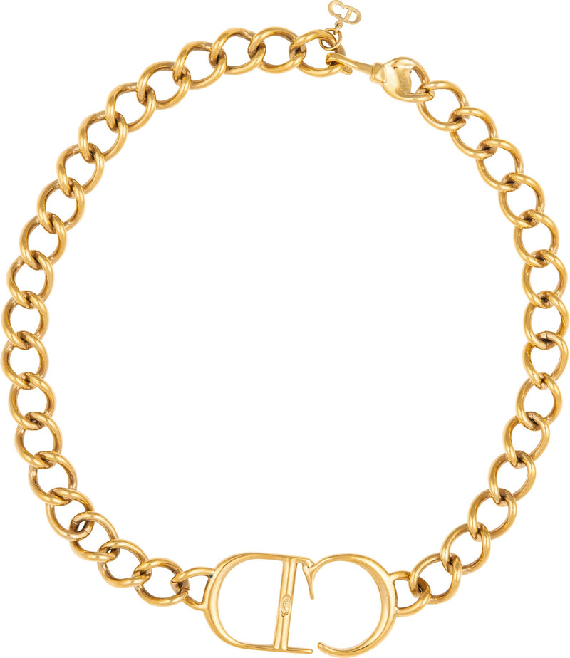 Christian Dior Spring 2000 CD Choker Necklace