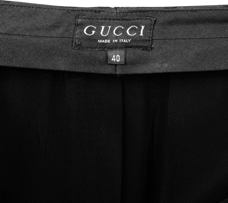 Gucci Spring 1998 Runway Monogram Tapered Pencil Skirt