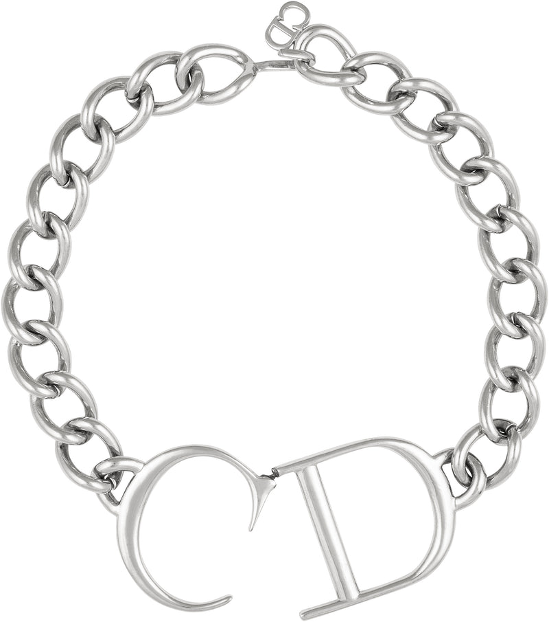 Christian Dior Spring 2000 Giant CD Choker Necklace