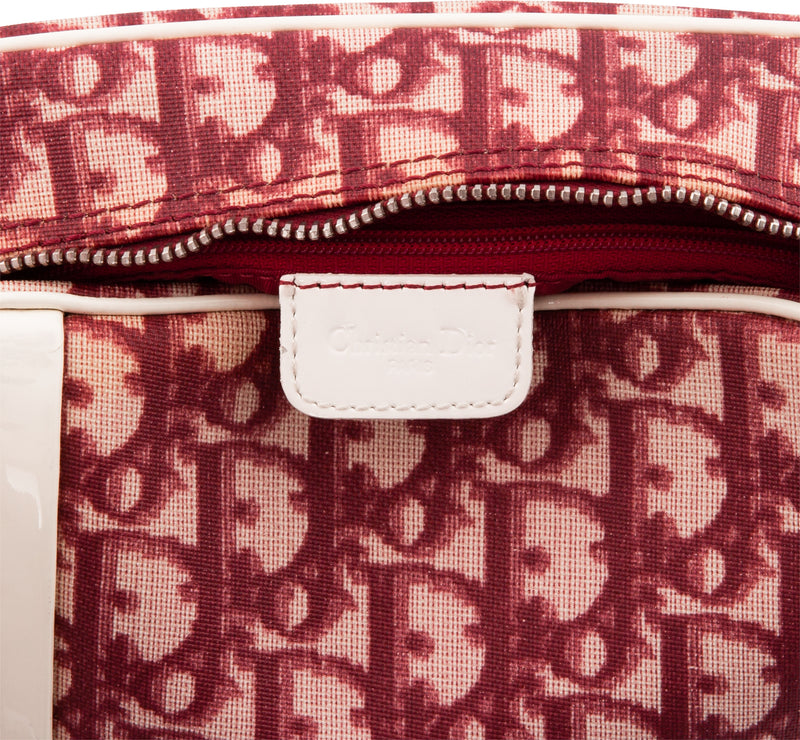 Christian Dior Burgundy Diorissimo Messenger Bag