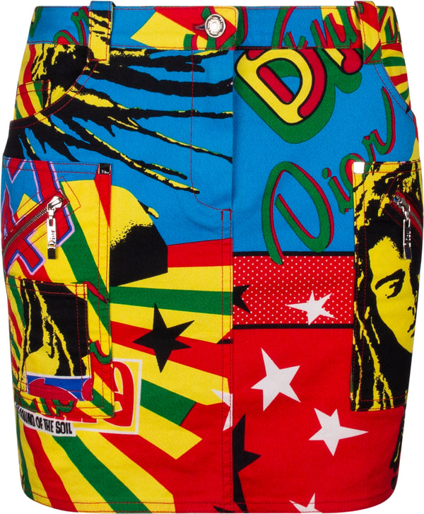 Christian Dior Multicolor Rasta Mania Skirt