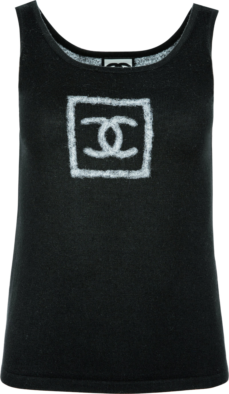 Chanel Cashmere Logo Tank Top