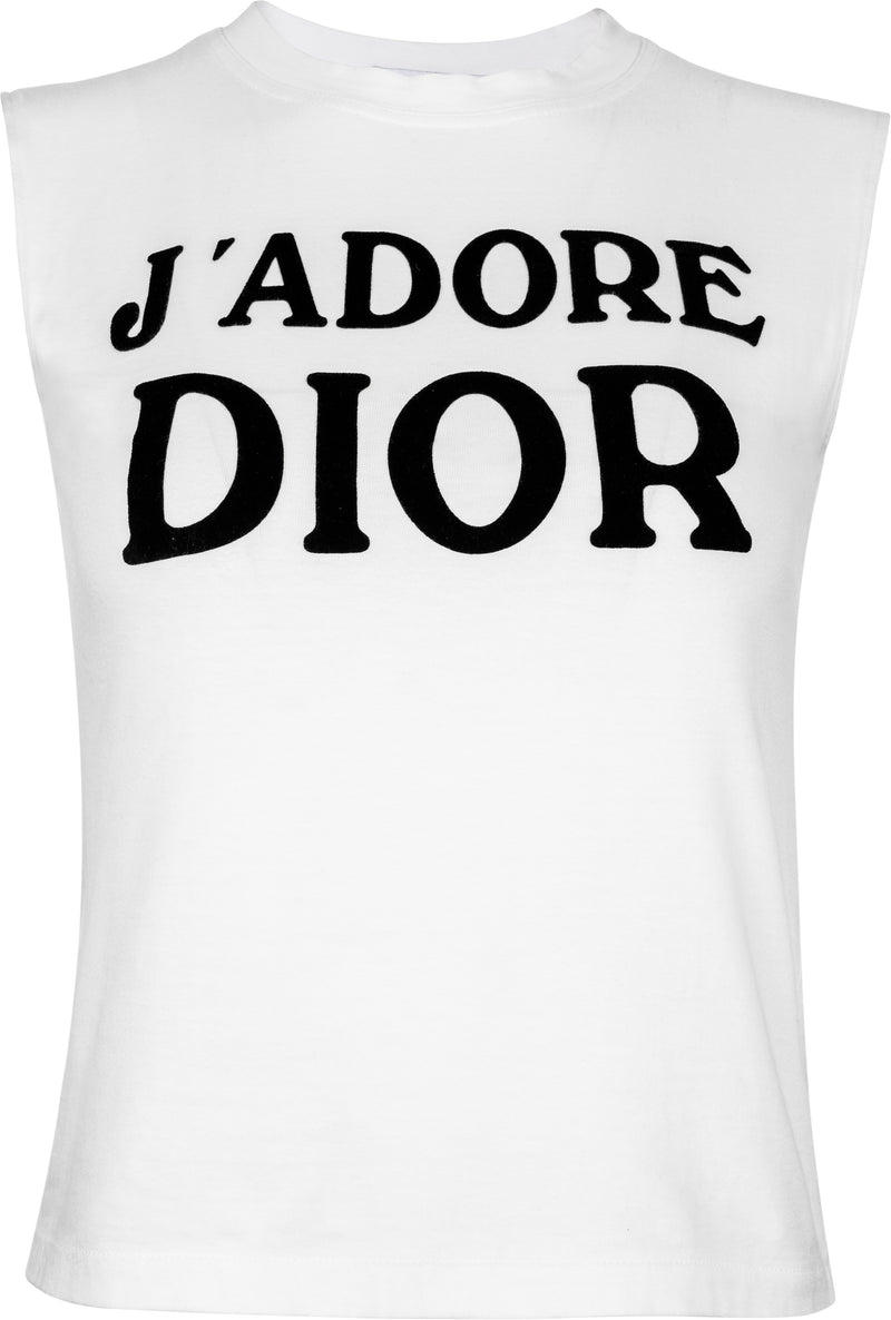 Christian Dior J'Adore Dior Fall 2001 Runway Sleeveless Top