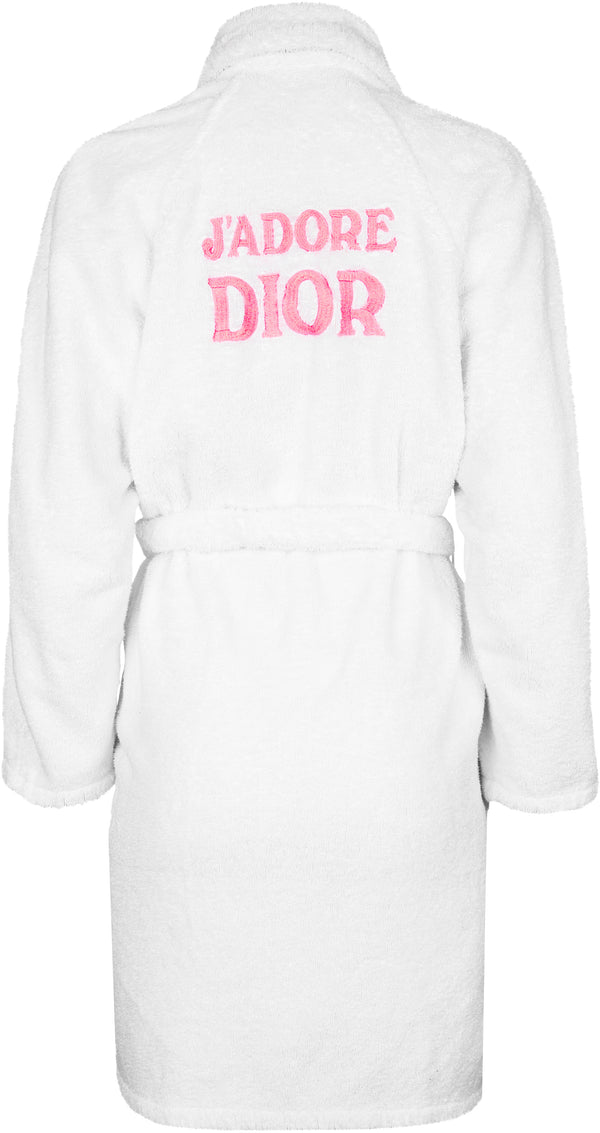 Christian Dior J'Adore Dior Spring 2001 Terry Cloth Robe