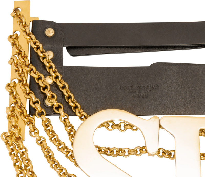Dolce & Gabbana Spring 2003 Giant Gold Chain Belt