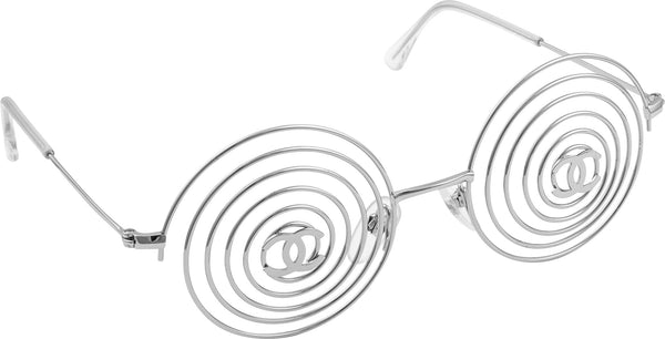 Chanel Spring 1996 Runway Wire Logo Sunglasses