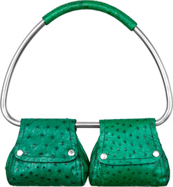 Prada Spring 2003 Runway Faux Ostrich Leather Swing Bag