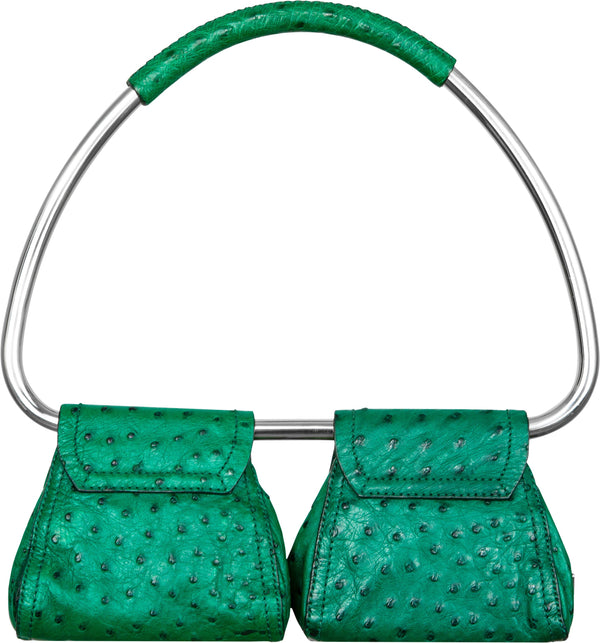 Prada Spring 2003 Runway Leather Embossed Swing Bag