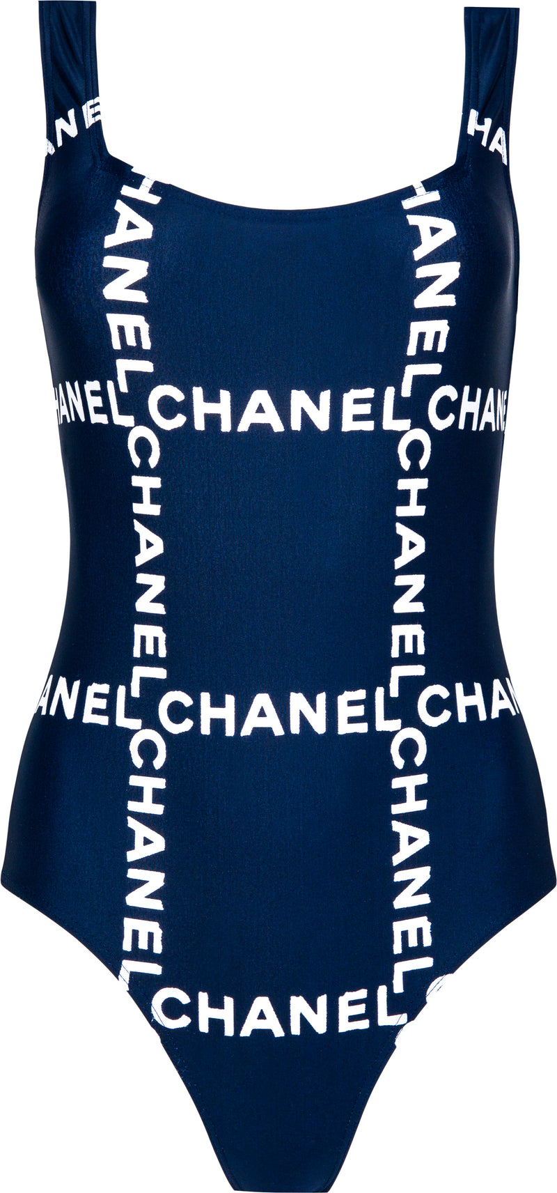 Chanel Spring 1997 Navy Logo One-Piece