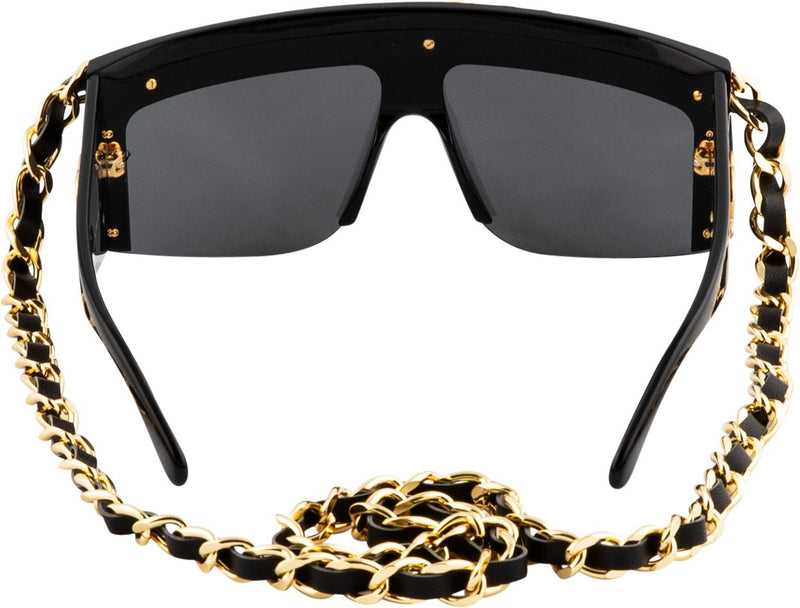 Chanel Fall 1992 Runway Chain Shield Sunglasses