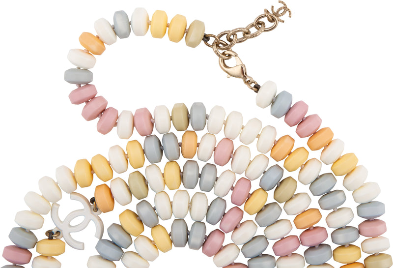 Chanel Fall 2014 Runway Supermarket Logo Necklace