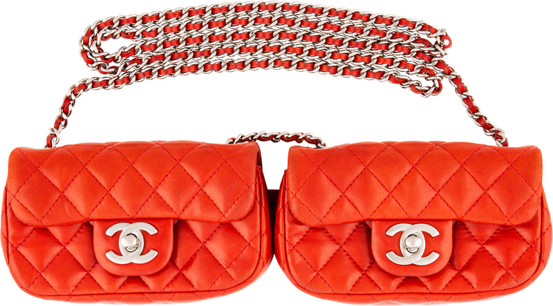 Chanel Cruise 2012 Double Mini Flap Crossbody Bag