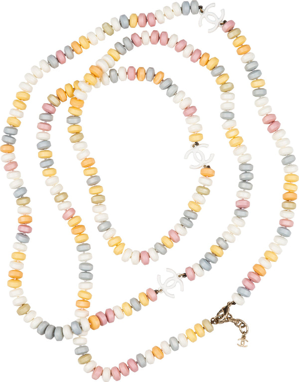 Chanel Fall 2014 Runway Supermarket Candy Logo Necklace