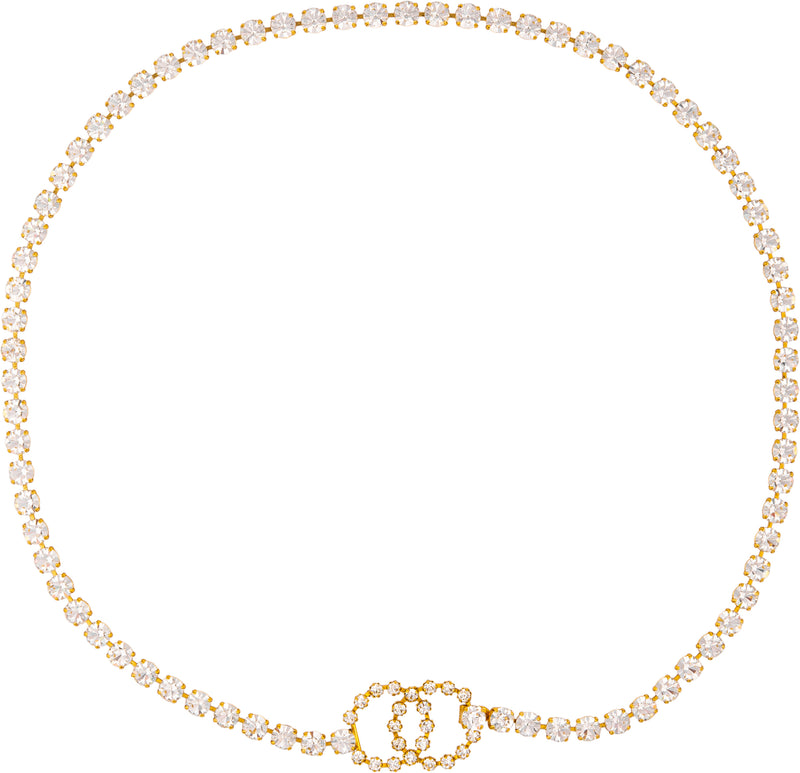 Chanel Spring 1995 Runway Swarovski Embellished Body Chain Belt