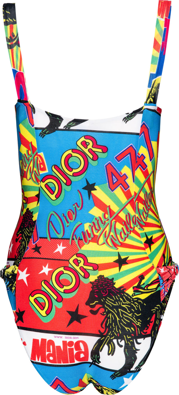 Christian Dior Multicolor Rasta One-Piece