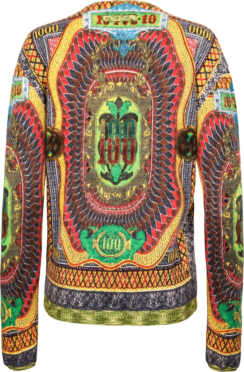 Jean Paul Gaultier Fall 1994 Runway Russian Currency Top