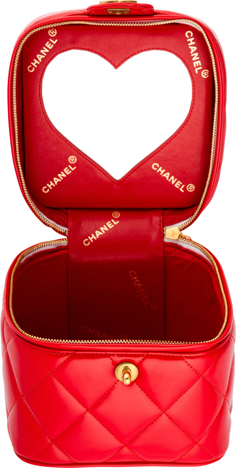 Chanel Spring 1995 Heart Mirror Vanity Campaign Bag