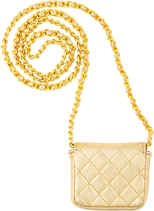 Chanel Spring 1992 Gold Micro Mini Crossbody Bag