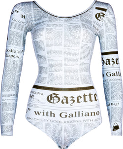 John Galliano Gazette Newspaper Mint One-Piece