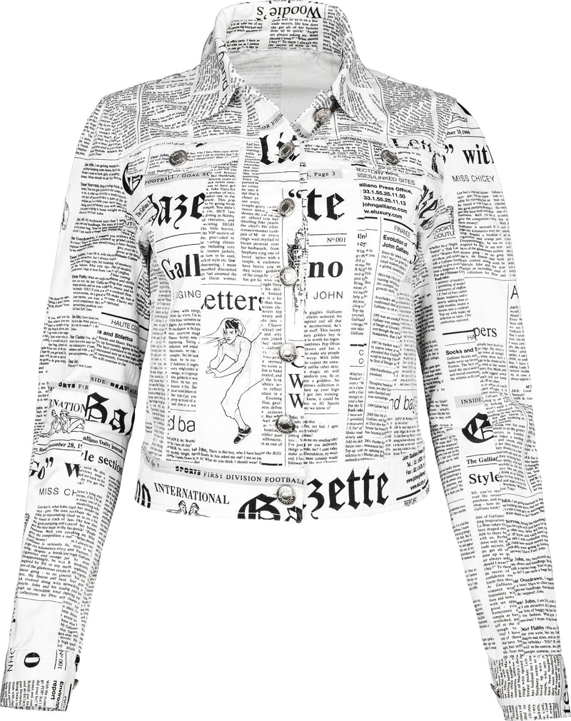 John Galliano Gazette Newspaper Jacket