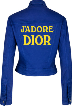 Christian Dior J'Adore Dior Fall 2001 Denim Jacket