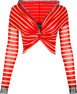 Jean Paul Gaultier Cyber Striped Crop Top