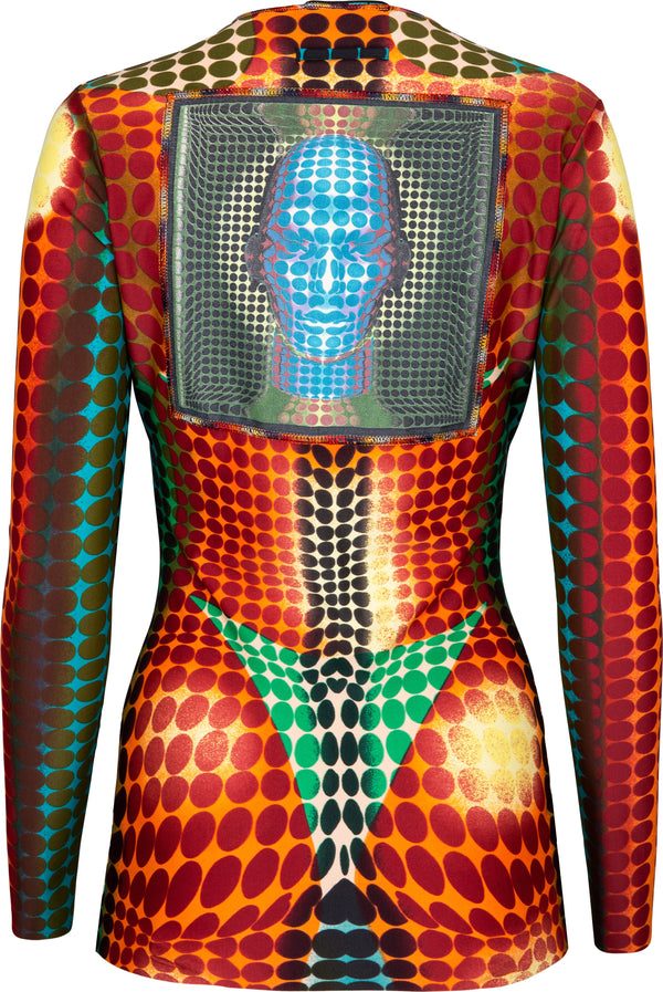 Jean Paul Gaultier Fall 1995 Runway Cyber Dots Top