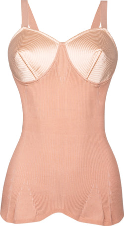 Jean Paul Gaultier Iconic Satin Conical Knitted Corset