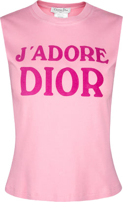 Christian Dior J'Adore Dior Fall 2001 Sleeveless Top