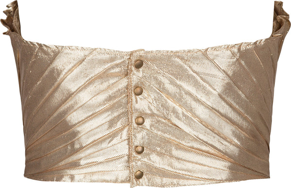 Thierry Mugler Spring 1985 Gold Lamé Shell Corset