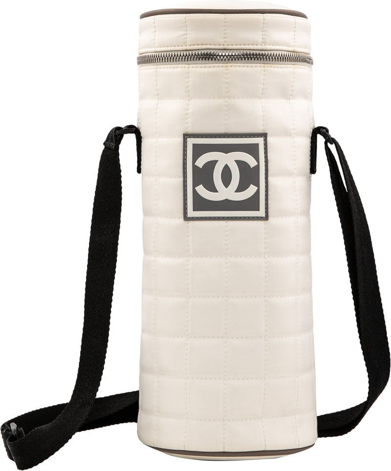 Chanel Spring 2001 Nylon Quilted Logo Water Bottle Holder