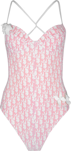 Christian Dior Diorissimo Girly Floral Embellished One-Piece