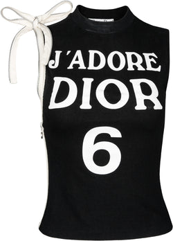 Christian Dior J'Adore Dior 6 Zipper Sleeveless Top