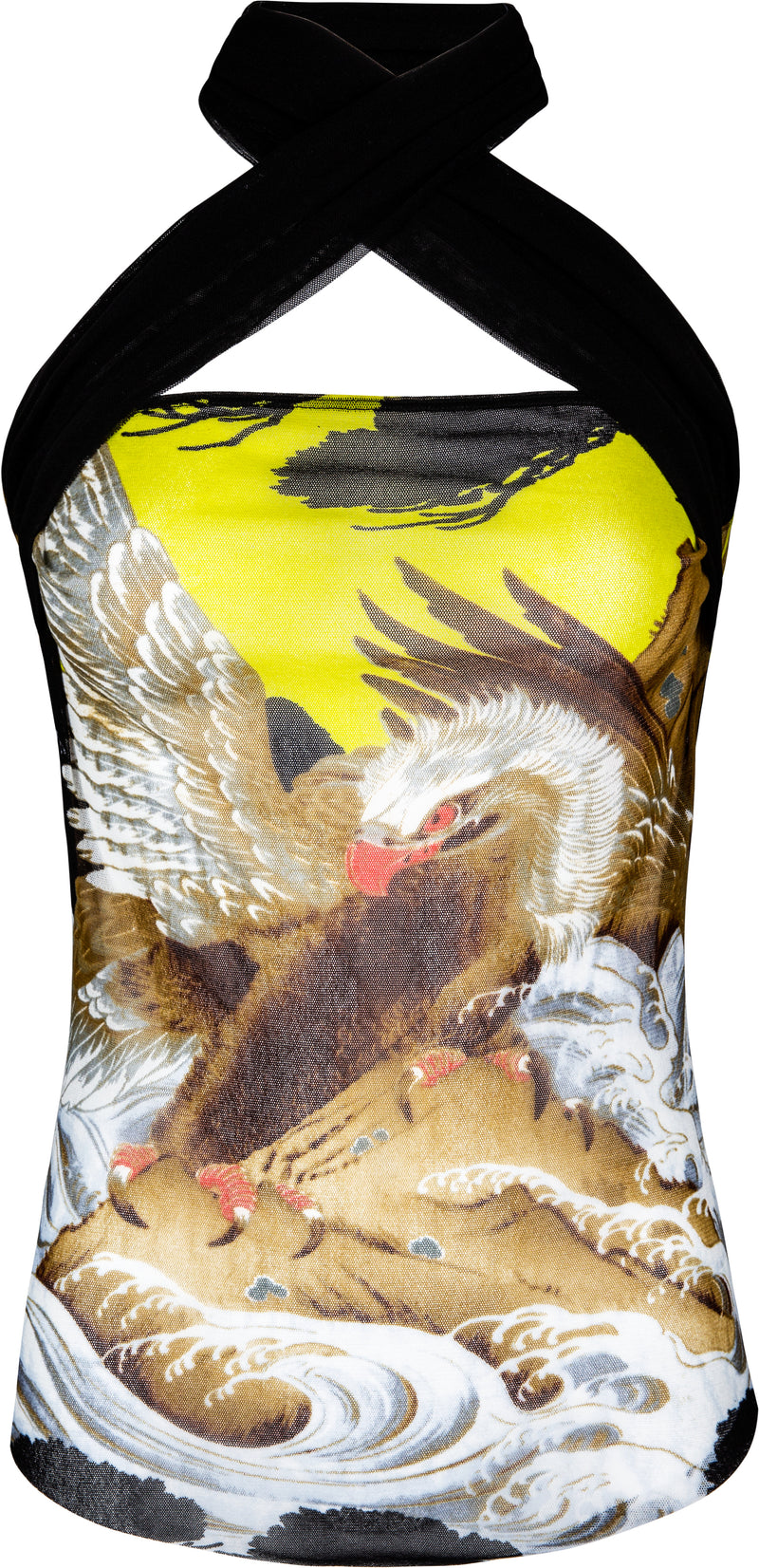 Jean Paul Gaultier Eagle Wrap Halter Top