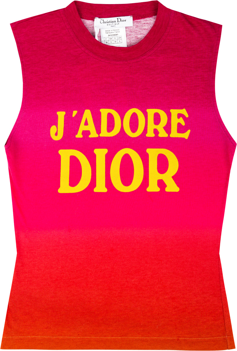 Christian Dior J'Adore Dior Ombré Sleeveless Top