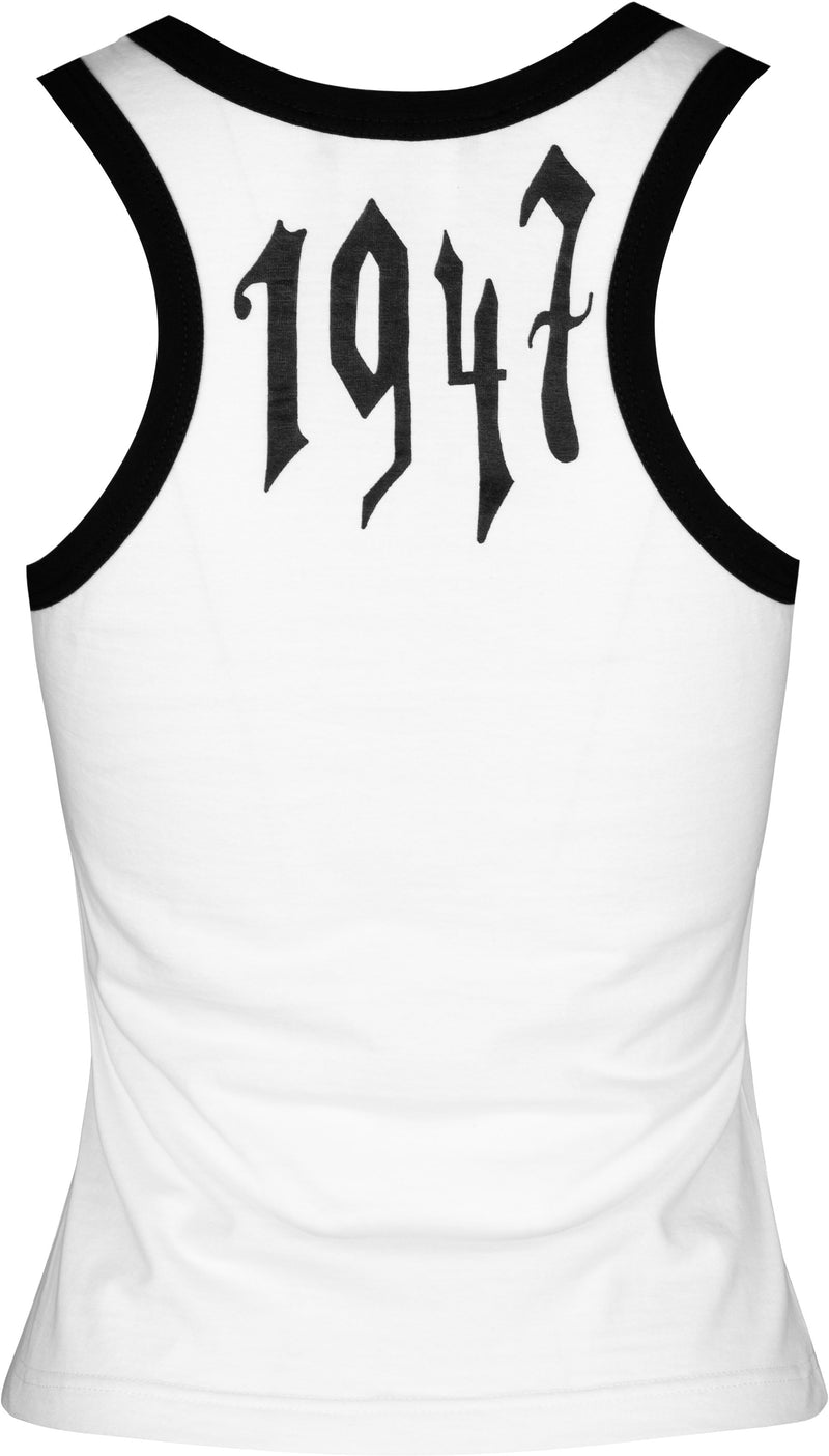 Christian Dior Spring 2002 Runway Gothic Racerback Tank Top