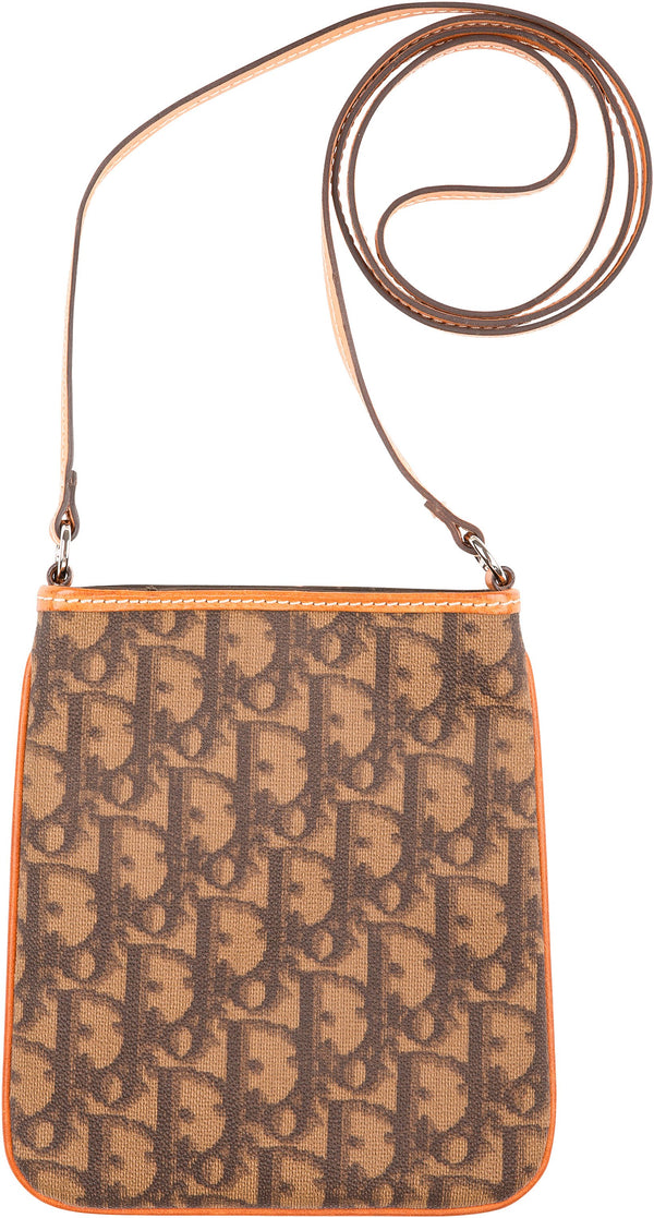Christian Dior Brown Diorissimo Mini Romantique Crossbody Bag