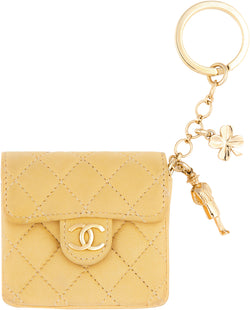 Chanel Micro Mini Lambskin Quilted Flap Keychain Bag Charm