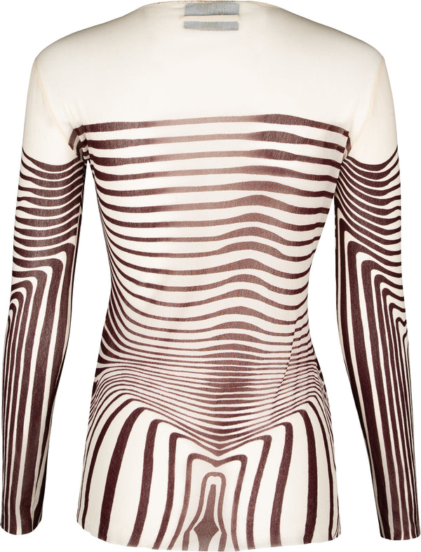 Jean Paul Gaultier Spring 1996 Cyber Baba Printed Top