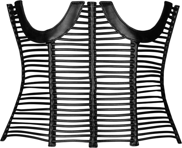 Gucci Spring 2001 Runway Caged Leather Corset