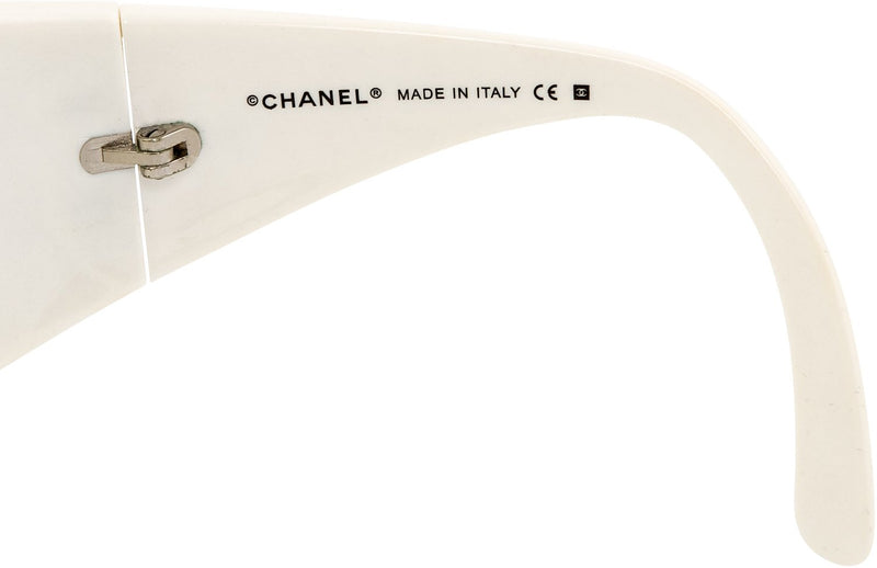 Chanel Ombré Swarovski Logo Shield Sunglasses
