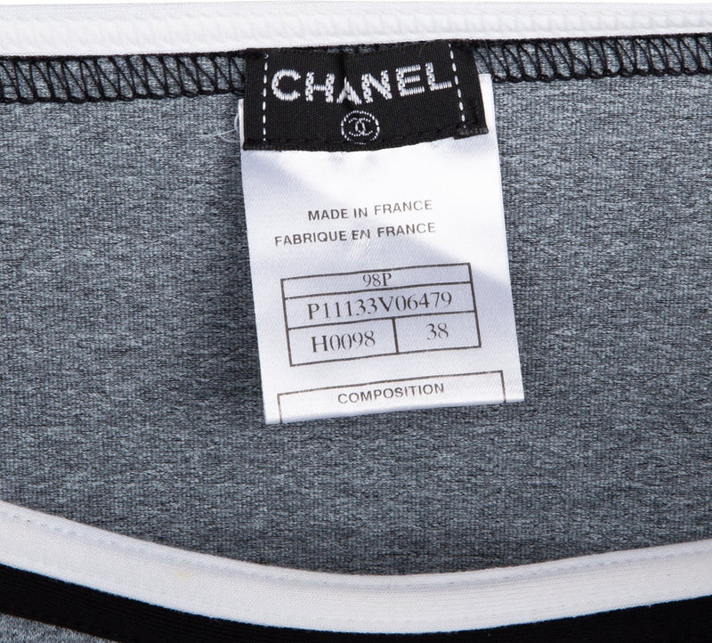 Chanel Spring 1998 Embroidered Logo Skirt