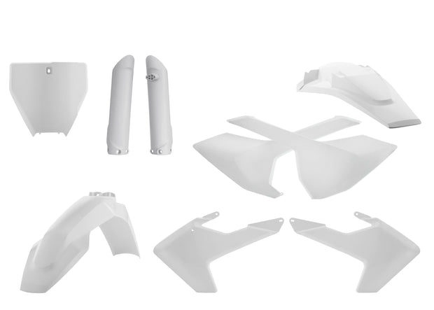 16-18 TC125/ 16-18 FC250-450/ 17-18 TC250, TX300, FX350-450 WHITE FULL PLASTIC KIT- ACERBIS