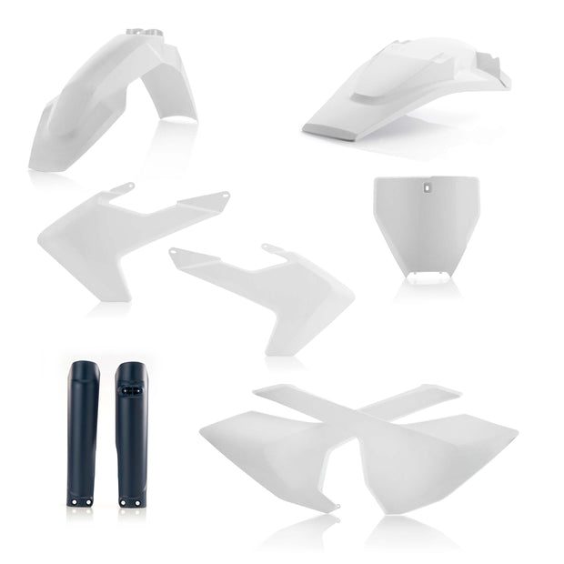 16-18 TC125/ 16-18 FC250-450/ 17-18 TC250, TX300, FX350-450 WHITE/ NAVY FULL PLASTIC KIT- ACERBIS