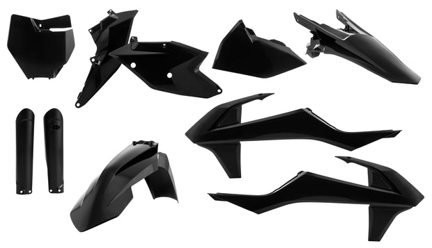 16-18 KTM BLACK FULL PLASTIC KIT - ACERBIS