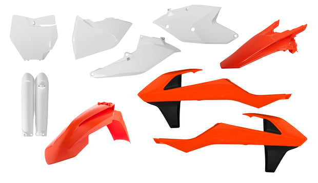 16-18 KTM ORANGE/ WHITE V2 FULL PLASTIC KIT - ACERBIS