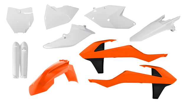 16-18 KTM ORANGE/ WHITE FULL PLASTIC KIT - ACERBIS