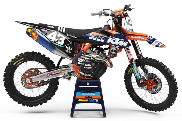 19-20 KTM BLACK / ORANGE FULL PLASTIC KIT - ACERBIS
