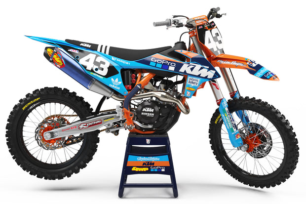 19-20 KTM BLUE / ORANGE FULL PLASTIC KIT - ACERBIS